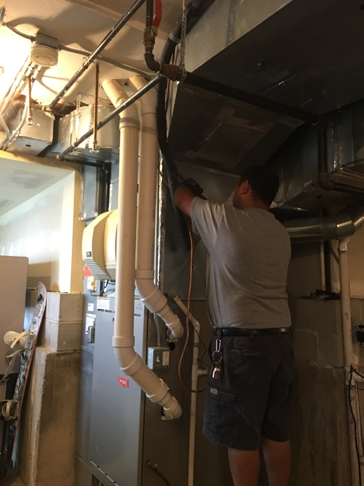 Replacing a leaking evaporator coil on a Bryant system in N Chestnut Ave, Arlington Heights, IL, USA.